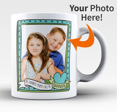 My Favorite People Call Me Grandpa - Custom Photo Mug