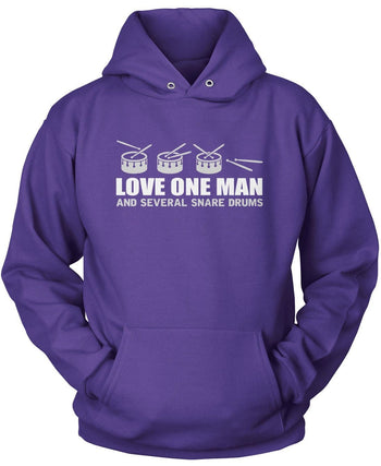 Love One Man and Several Snare Drums - Pullover Hoodie / Purple / S