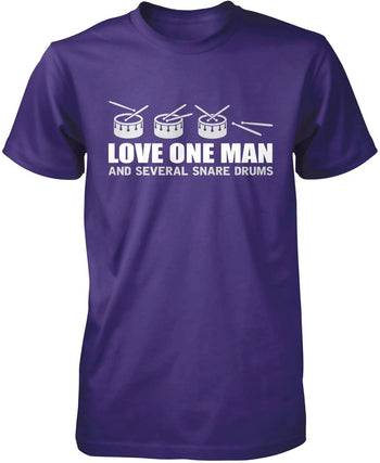 Love One Man and Several Snare Drums - Premium T-Shirt / Purple / S