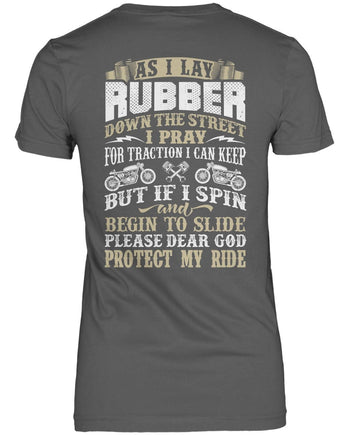 Protect My Ride (Back Print) - Women's Fit T-Shirt / Dark Heather / S