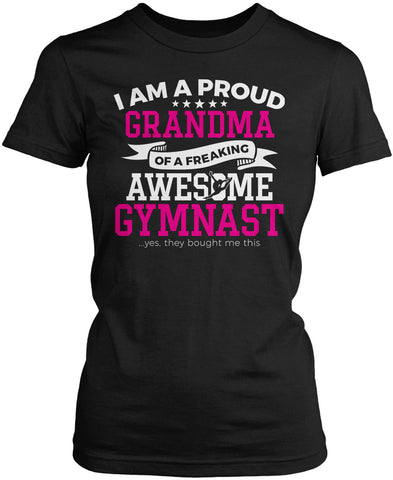 Proud Grandma of An Awesome Gymnast Women's Fit T-Shirt