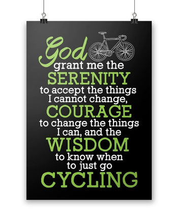 Cycling Serenity - Poster - Posters