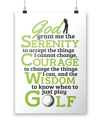 Golf Serenity - Poster - Posters