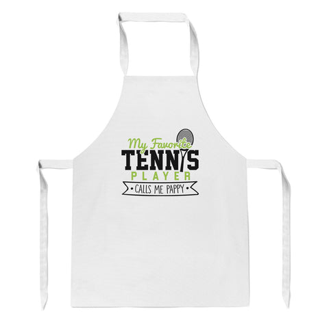 My Favorite Tennis Player Calls Me Pappy - Apron
