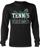My Favorite Tennis Player Calls Me Grandpa Long Sleeve T-Shirt