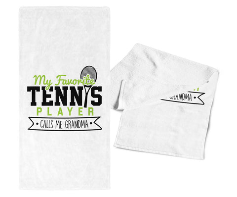 My Favorite Tennis Player Calls Me Grandma - Gym Towel