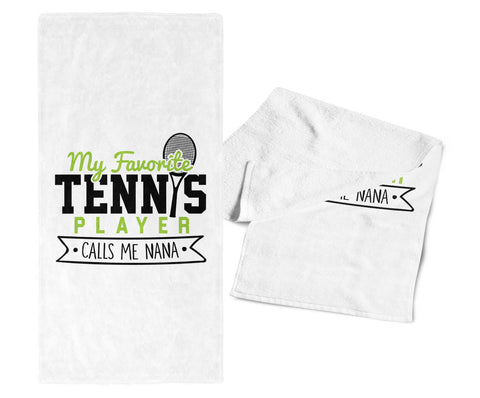 My Favorite Tennis Player Calls Me Nana - Gym Towel