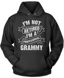 I'm Not Retired I'm a Professional Grammy Pullover Hoodie Sweatshirt
