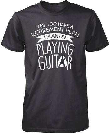 Yes I Do Have a Retirement Plan, Playing Guitar - Premium T-Shirt / Dark Heather / S