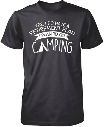 Yes I Do Have a Retirement Plan, Camping - Premium T-Shirt / Dark Heather / S