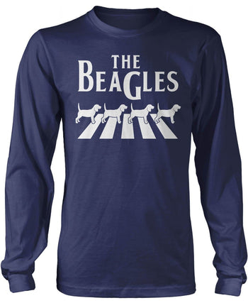 The Beagles - Long Sleeve T-Shirt / Navy / S