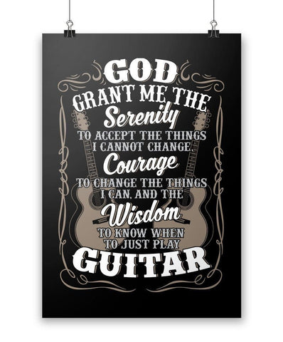 Acoustic Guitar Serenity - Poster - Posters