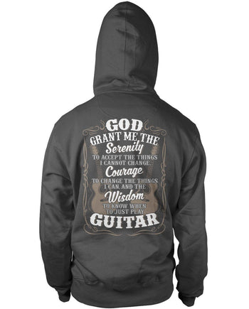 Acoustic Guitar Serenity (Back Print) - T-Shirts