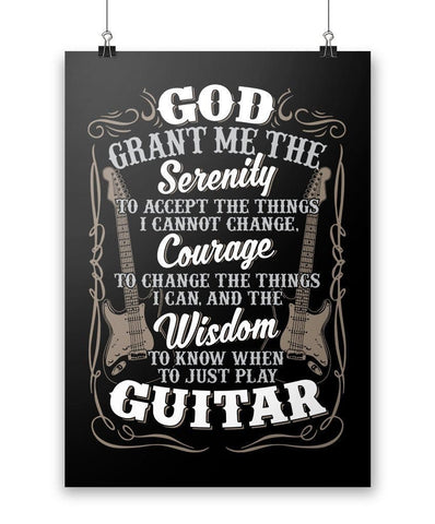 Guitar Serenity - Poster - Posters