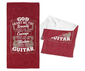 Acoustic Guitar Serenity - Gym / Gig Towel - Towels