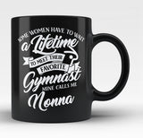 Favorite Gymnast - Mine Calls Me Nonna - Black Mug / Tea Cup