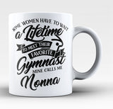 Favorite Gymnast - Mine Calls Me Nonna - Coffee Mug / Tea Cup