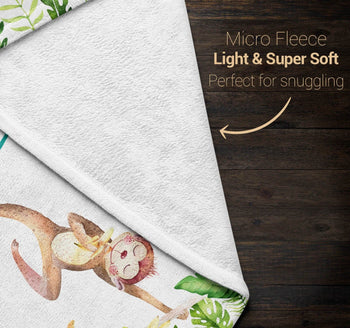 Jungle Monkey - Personalized Blanket - [variant_title]