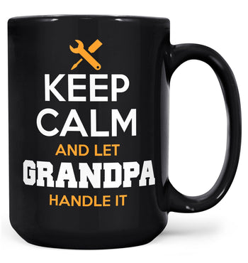 Keep Calm and Let (Nickname) Handle It - Mug - Black / Large - 15oz