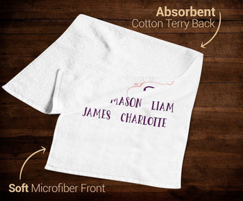 I Keep My Grandkids Close To My Heart - Personalized Kitchen Towel - Towels