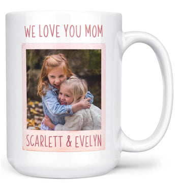 Keepsake Personalized Photo Mug - Large - 15oz