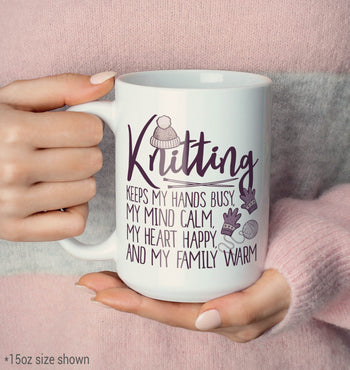 Knitting Keeps My Hands Busy - Mug - [variant_title]