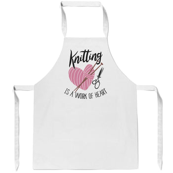 Knitting Is a Work of Heart - Apron
