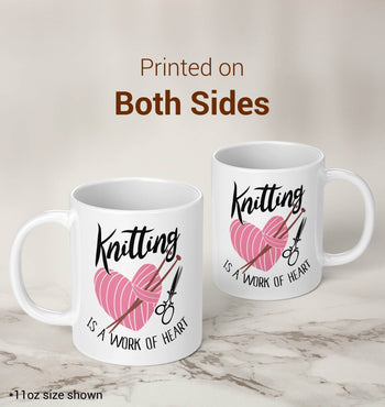 Knitting Is a Work of Heart - Mug - [variant_title]