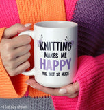 Knitting Makes Me Happy - Mug - [variant_title]
