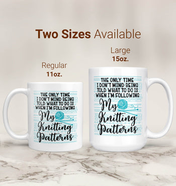 Following My Knitting Patterns - Mug - Coffee Mugs