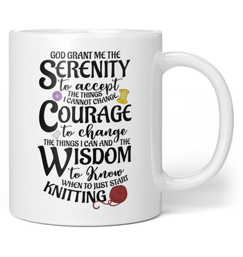 Knitting Serenity - Coffee Mug / Tea Cup