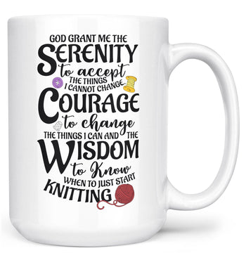 Knitting Serenity - Mug - Large - 15oz