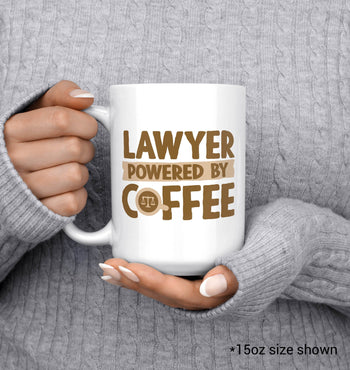 Lawyer Powered By Coffee - Mug - [variant_title]