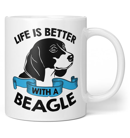 Life Is Better with a Beagle - Coffee Mug / Tea Cup