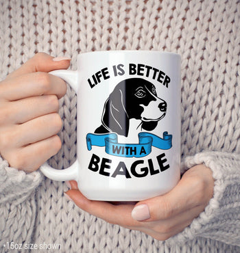 Life Is Better with a Beagle - Mug - [variant_title]