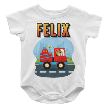 Little Firefighter - Personalized Baby Bodysuit