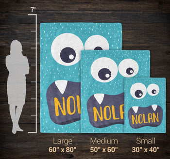 Little Monster - Personalized Blanket - [variant_title]