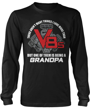This (Nickname) Loves V8s - Personalized Long Sleeve T-Shirt