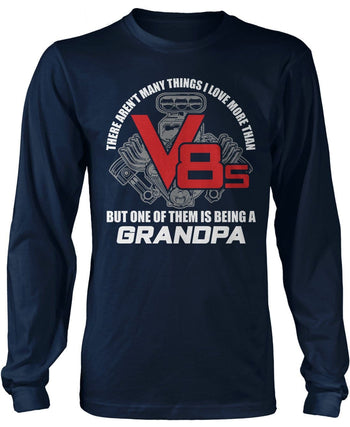 This (Nickname) Loves V8s - T-Shirt - Long Sleeve T-Shirt / Navy / S