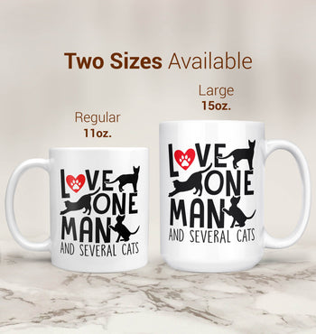 Love One Man and Several Cats - Mug - [variant_title]