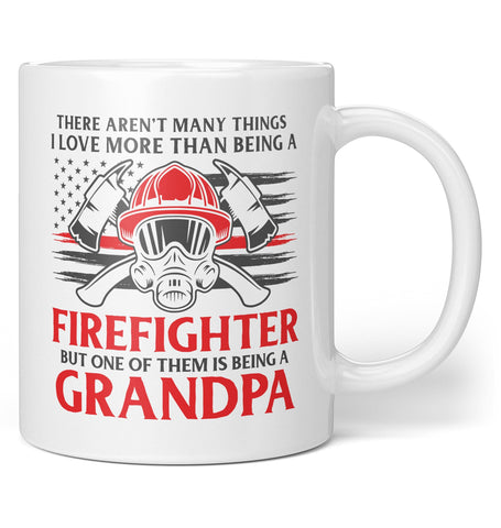 This (Nickname) Loves Being a Firefighter - Personalized Mug / Tea Cup