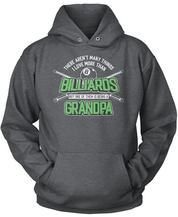 This (Nickname) Loves Billiards - T-Shirt - Pullover Hoodie / Dark Heather / S