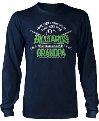 This (Nickname) Loves Billiards - T-Shirt - Long Sleeve T-Shirt / Navy / S