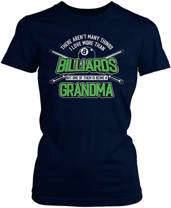This (Nickname) Loves Billiards - T-Shirt - Women's Fit T-Shirt / Navy / S