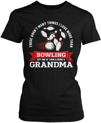 This (Nickname) Loves Bowling - Personalized Women's Fit T-Shirt