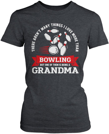 This (Nickname) Loves Bowling - T-Shirt - Women's Fit T-Shirt / Dark Heather / S