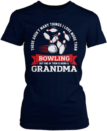 This (Nickname) Loves Bowling - T-Shirt - Women's Fit T-Shirt / Navy / S