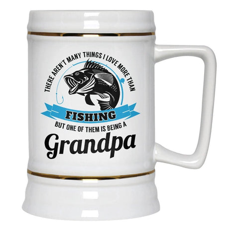 This (Nickname) Loves Fishing - Personalized Beer Stein