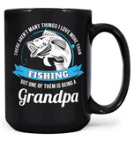 This (Nickname) Loves Fishing - Personalized Mug - Black / Large - 15oz