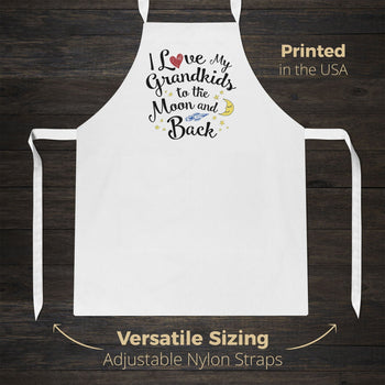 I Love my Grandkids to the Moon and Back - Apron - Aprons
